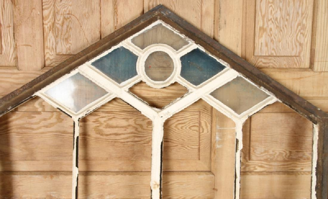 4 DOUBLE HUNG CAST IRON WINDOW FRAMES GOTHIC C.1890 - 3