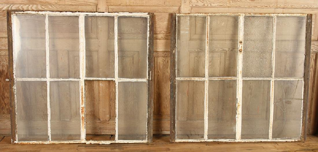 4 DOUBLE HUNG CAST IRON WINDOW FRAMES GOTHIC C.1890 - 4