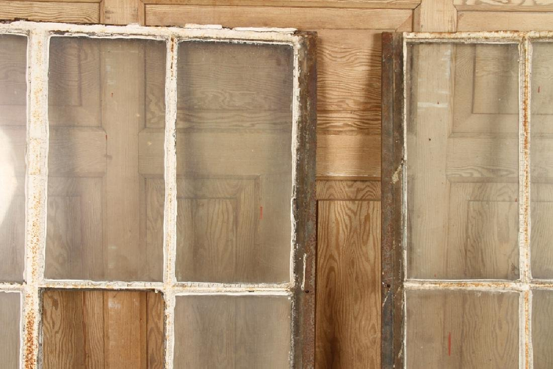 4 DOUBLE HUNG CAST IRON WINDOW FRAMES GOTHIC C.1890 - 5