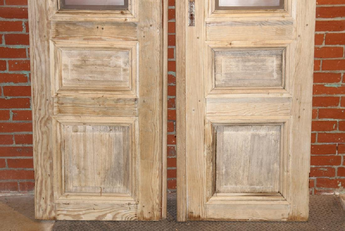 PAIR FRENCH DOORS ETCHED GLASS CIRCA 1880 - 7