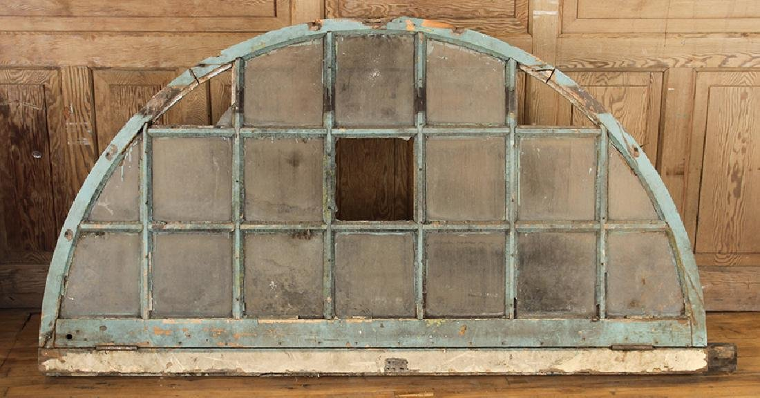 PAIR 19TH CENTURY ARCHED TRANSOM WINDOWS - 3
