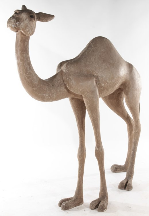 PAIR OF STANDING COMPOSITE CAMELS - 3