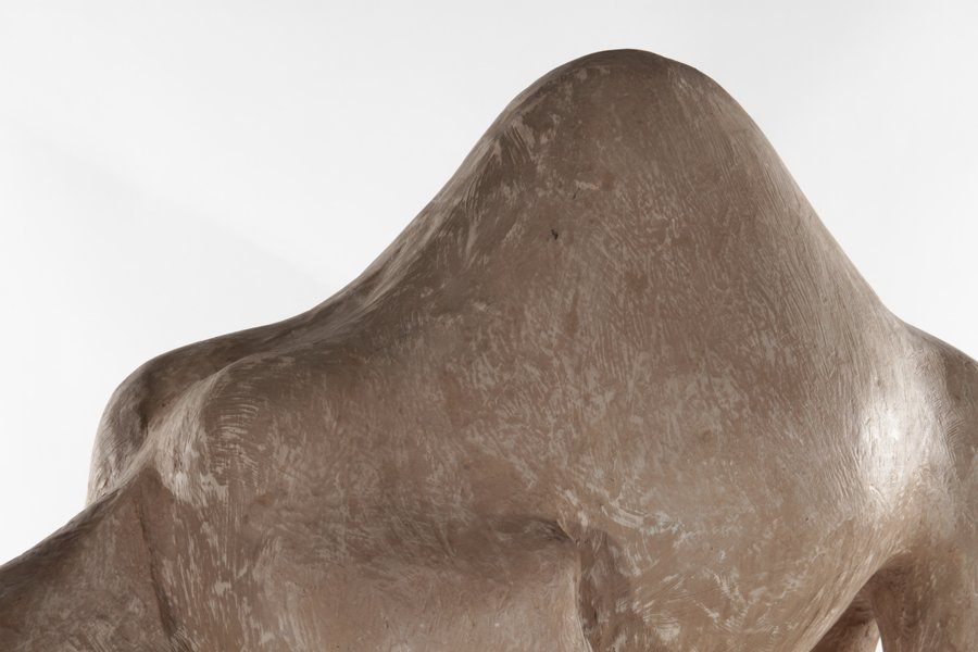 PAIR OF STANDING COMPOSITE CAMELS - 5