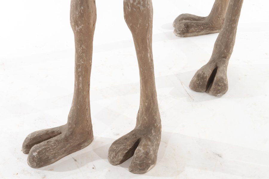 PAIR OF STANDING COMPOSITE CAMELS - 6
