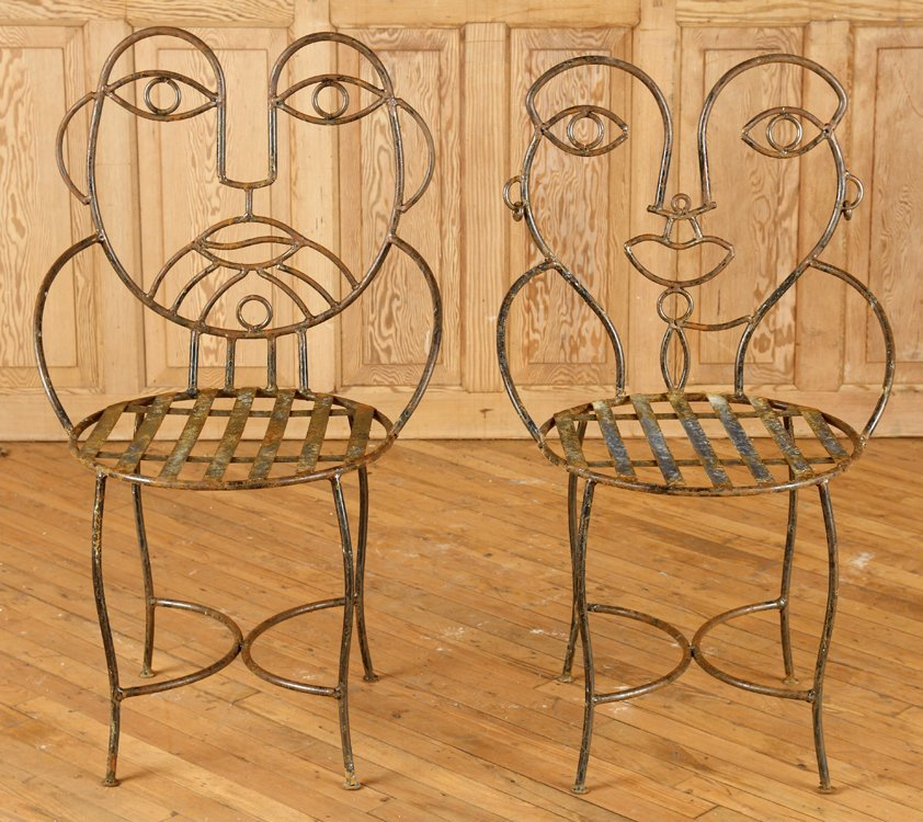 GREAT SET OF 4 IRON GARDEN CHAIRS - 2