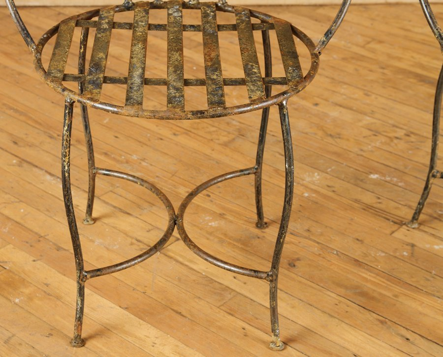 GREAT SET OF 4 IRON GARDEN CHAIRS - 5