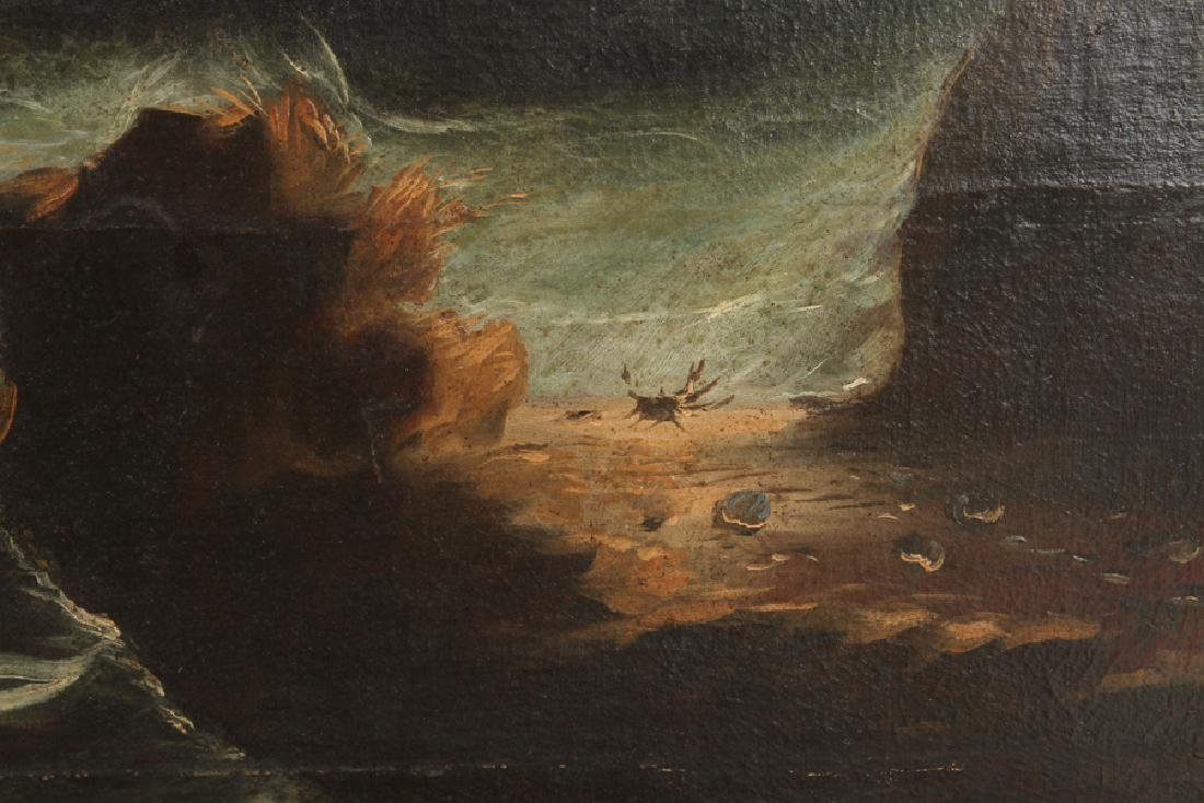 STORMY SEAS ANTIQUE OIL ON CANVAS - 4