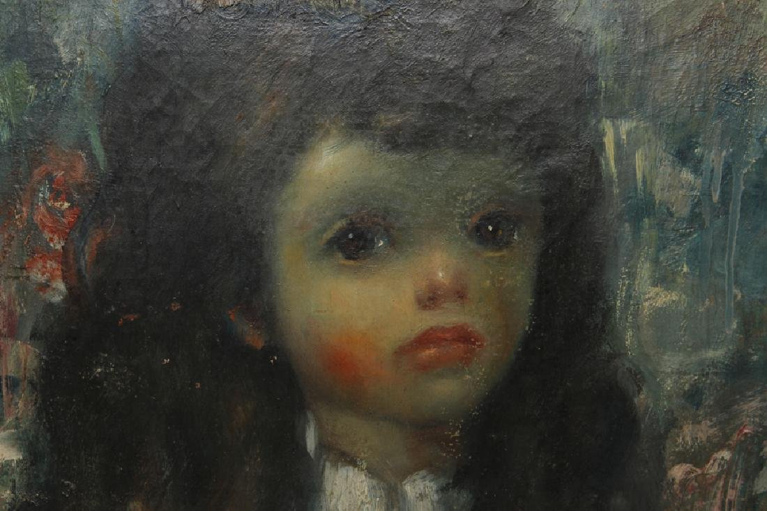 EARLY 20TH C. OIL ON CANVAS PAINTING YOUNG GIRL - 2