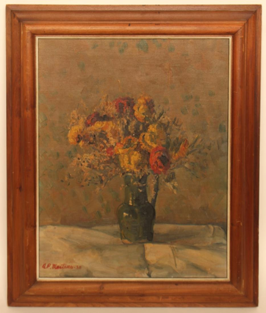 ANTONIO PIETRO MARTINO OIL ON CANVAS SIGNED DATED