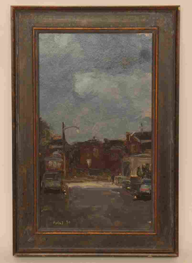 "STUART SHILS ""STREET SCENE, SUMMER NIGHT"" SIGNED"