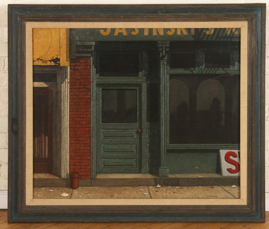"ALLEN KOSS ""BUFFALO STORE"" TEMPERA, OIL ON CANVAS"