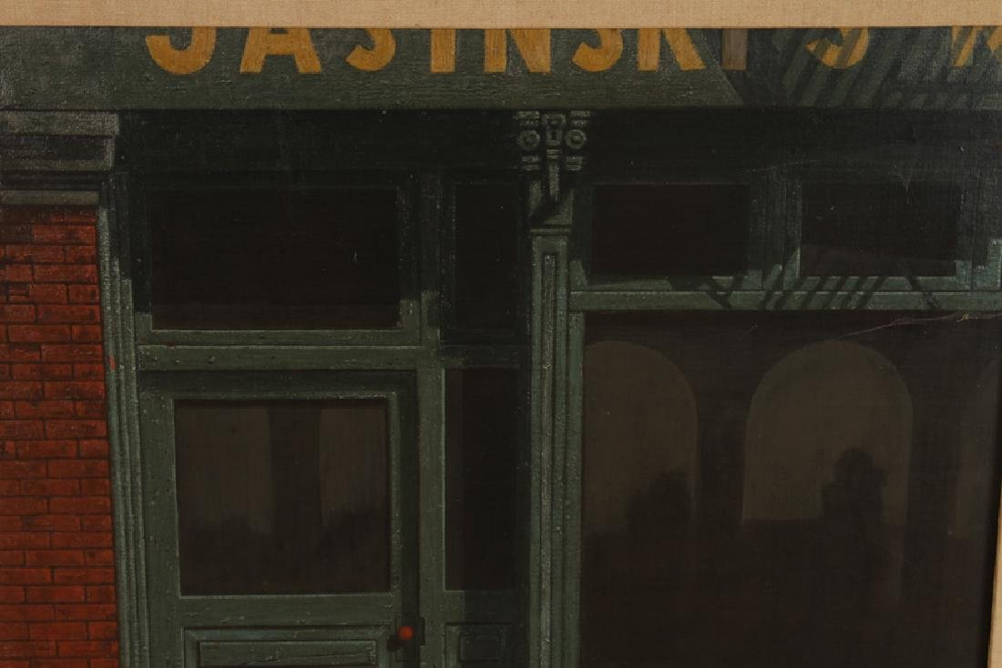 "ALLEN KOSS ""BUFFALO STORE"" TEMPERA, OIL ON CANVAS - 2"