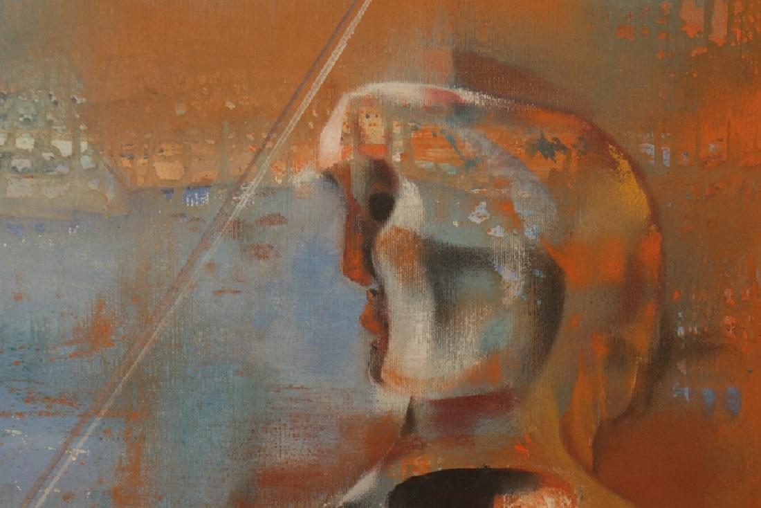 "JOSEPH WOLINS ""DUET II"" OIL ON CANVAS - 3"