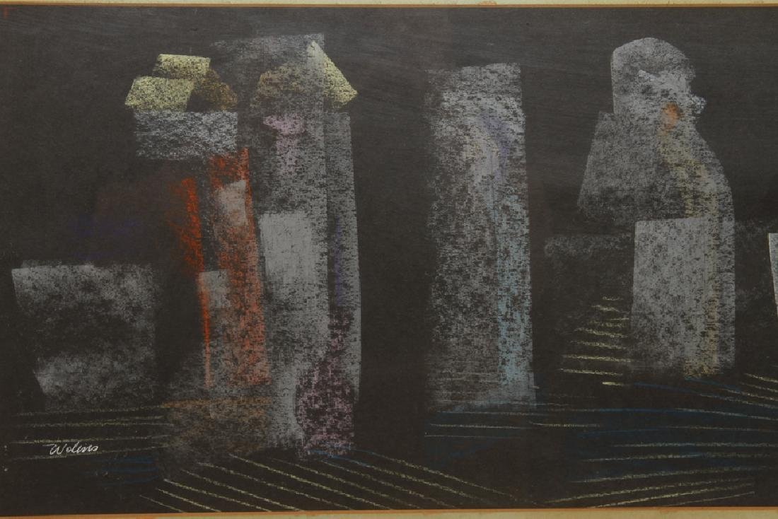 JOSEPH WOLINS UNTITLED PASTEL ON PAPER SIGNED - 2