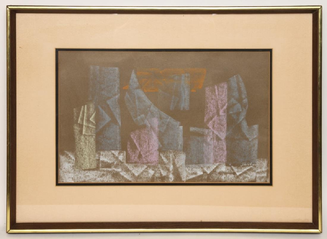 JOSEPH WOLINS UNTITLED PASTEL ON PAPER SIGNED
