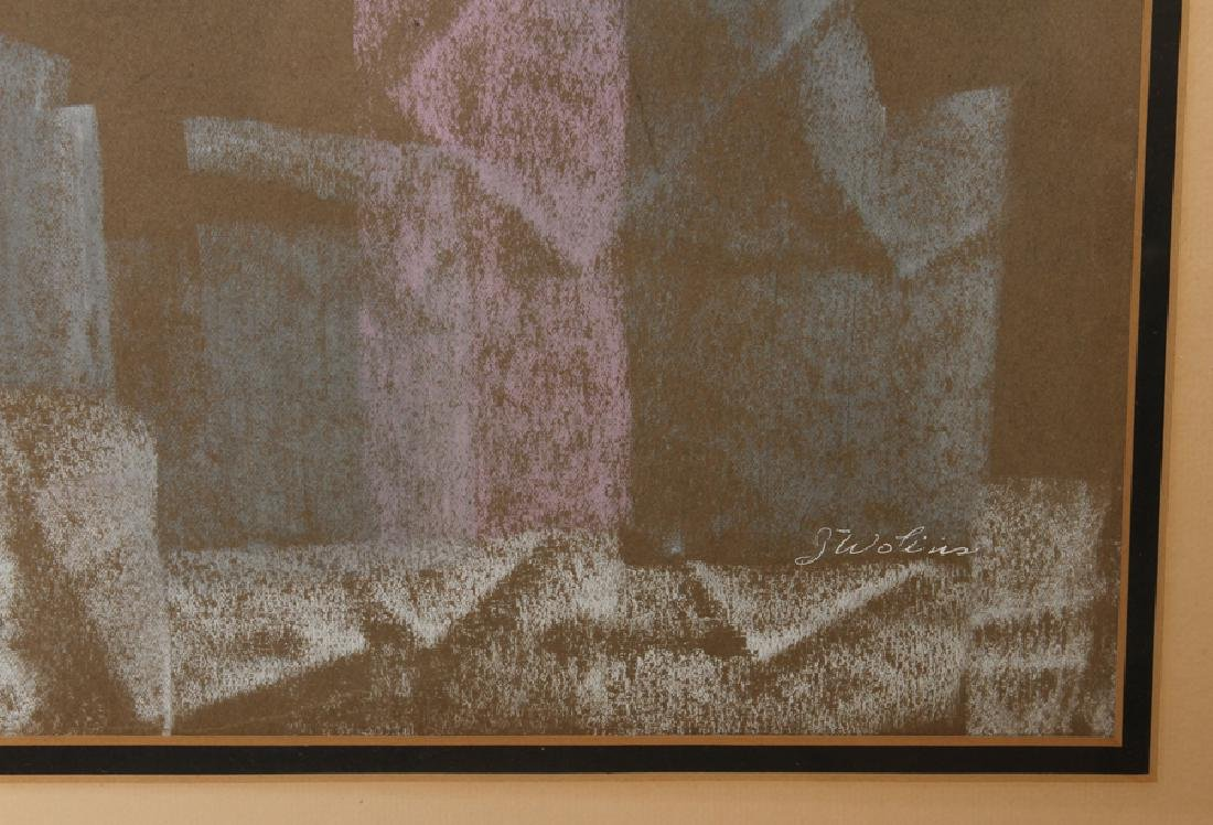 JOSEPH WOLINS UNTITLED PASTEL ON PAPER SIGNED - 3