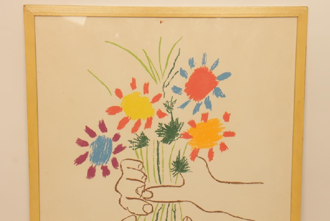 "PABLO PICASSO ""HANDS HOLDING FLOWERS"" LITHOGRAPH - 2"