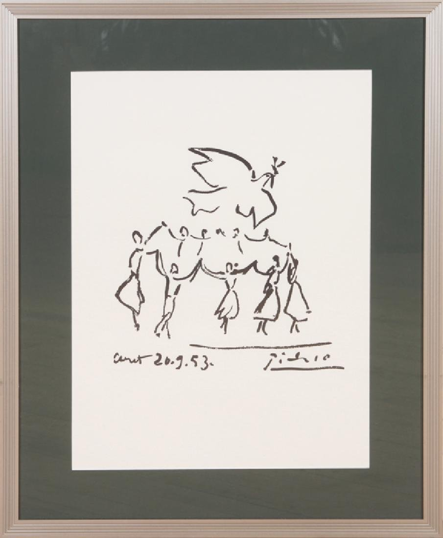 """PABLO PICASSO """"YOUTH CIRCLE"""" PRINT"""