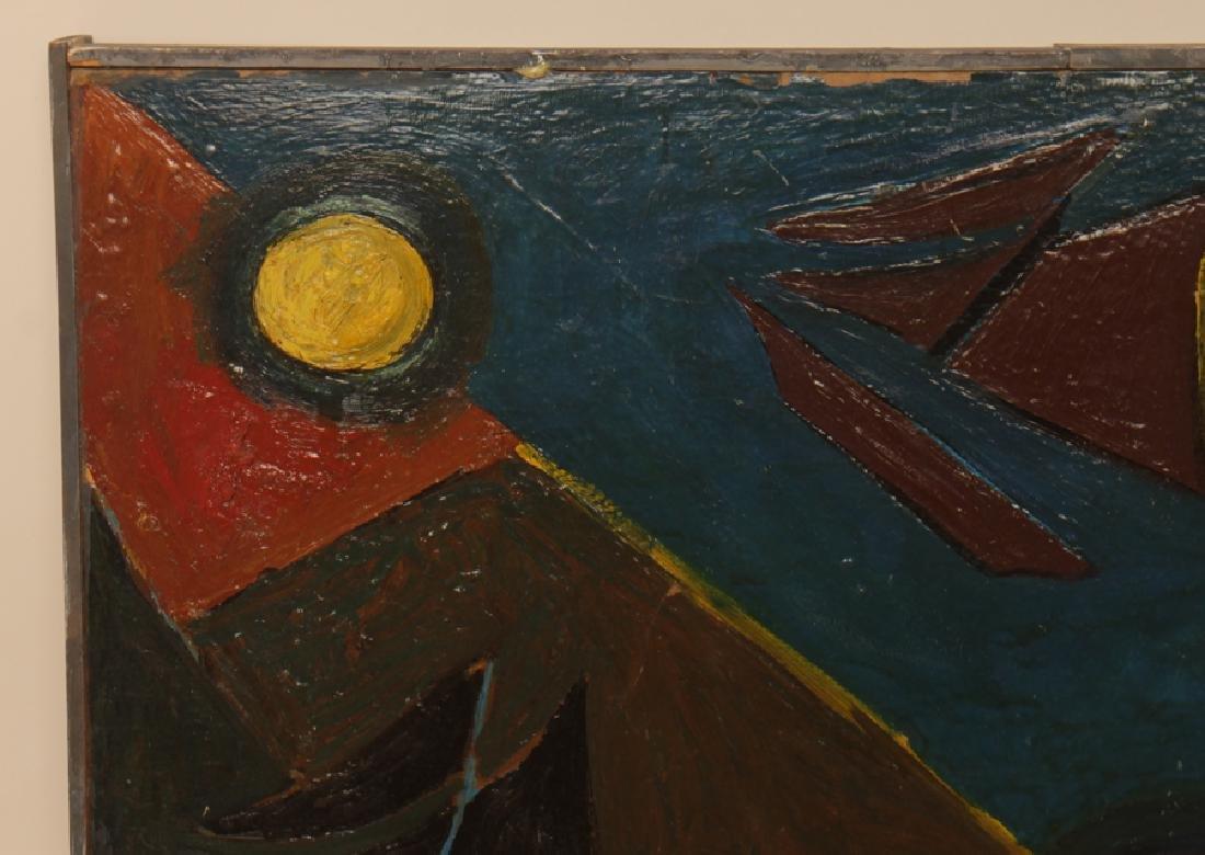 "DE HIRSH MARGULES ""SAILBOATS"" OIL ON MASONITE - 2"