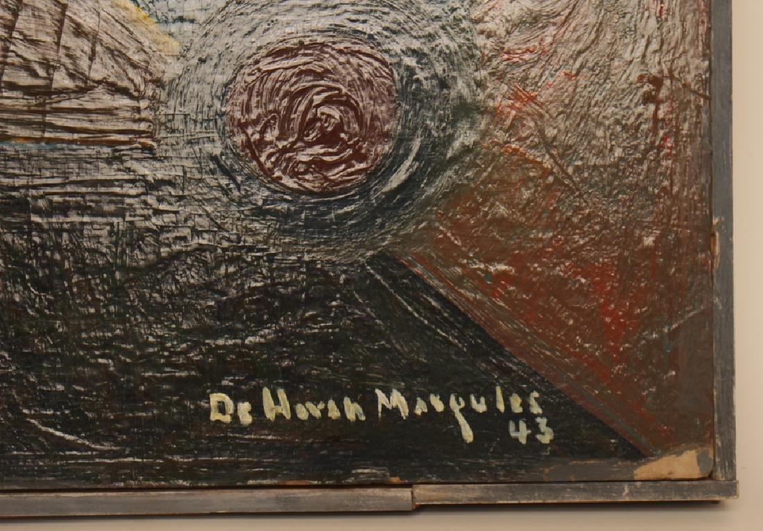 "DE HIRSH MARGULES ""SAILBOATS"" OIL ON MASONITE - 3"