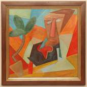 OTTO FEIL ABSTRACT COMPOSITION OIL ON CANVAS
