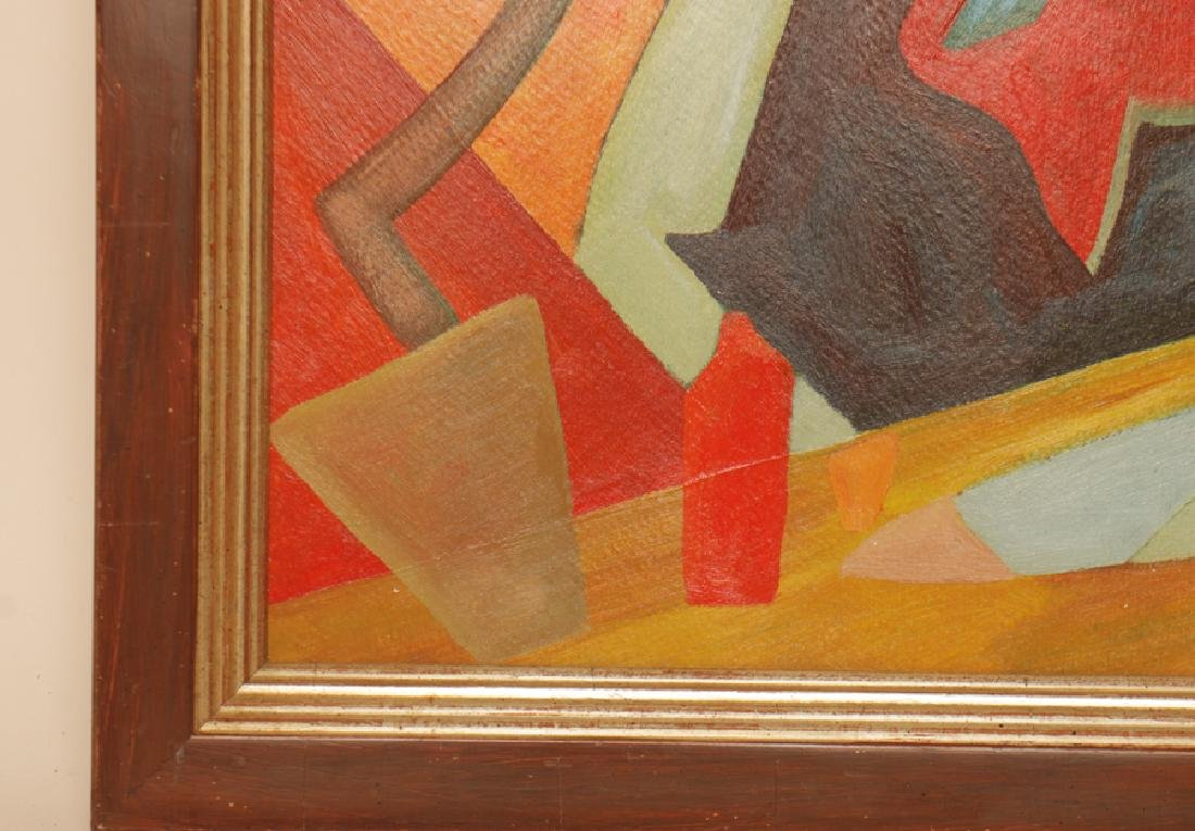 OTTO FEIL ABSTRACT COMPOSITION OIL ON CANVAS - 3