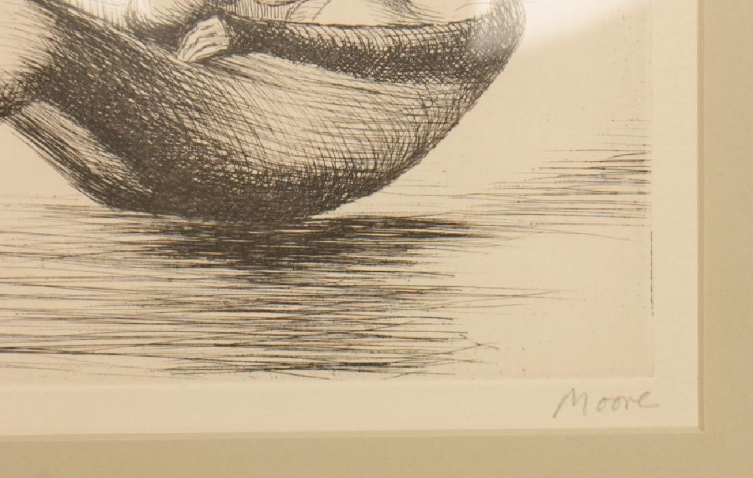 "HENRY MOORE ""MOTHER AND CHILD"" ETCHING SIGNED - 3"