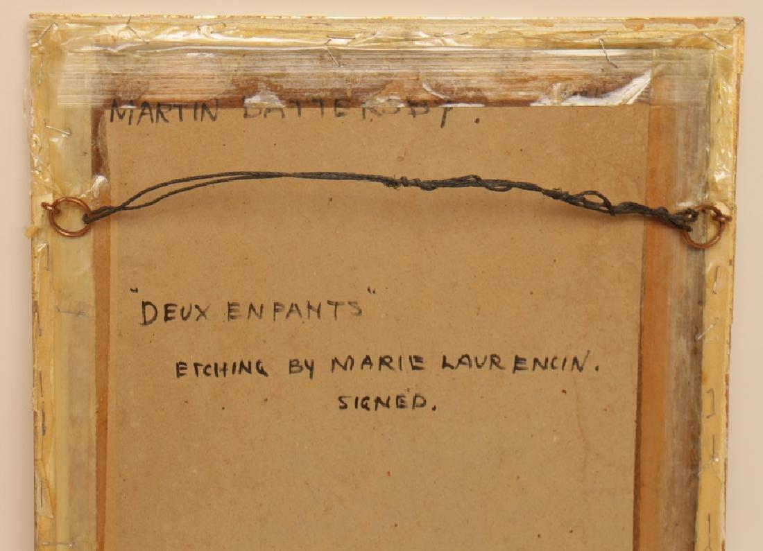"MARIE LAURENCIN ""DEUX ENFANTS"" ETCHING SIGNED - 4"