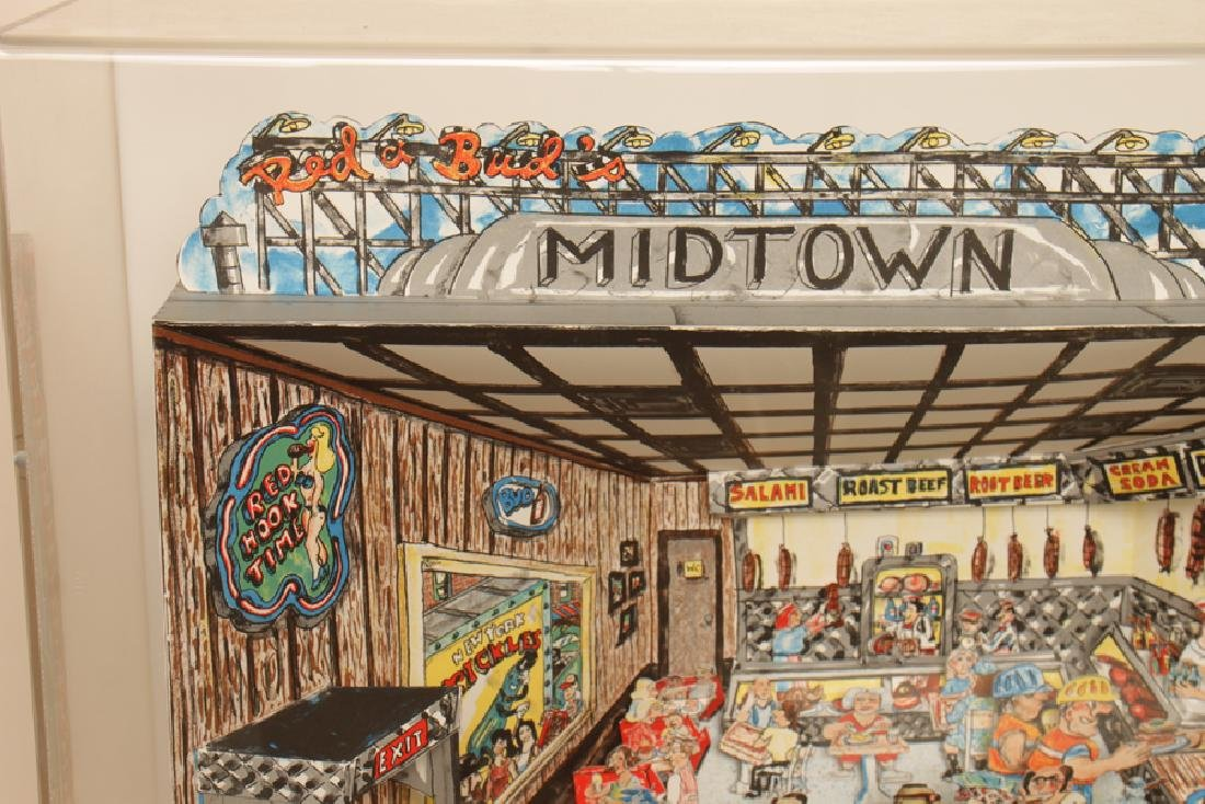 """RED GROOMS """"DELI"""" 3D LITHOGRAPH IN COLOURS SIGNED - 2"""