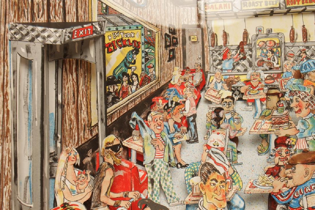 """RED GROOMS """"DELI"""" 3D LITHOGRAPH IN COLOURS SIGNED - 4"""