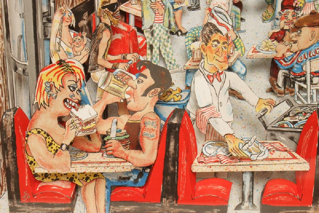 """RED GROOMS """"DELI"""" 3D LITHOGRAPH IN COLOURS SIGNED - 5"""