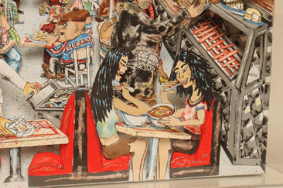 """RED GROOMS """"DELI"""" 3D LITHOGRAPH IN COLOURS SIGNED - 6"""