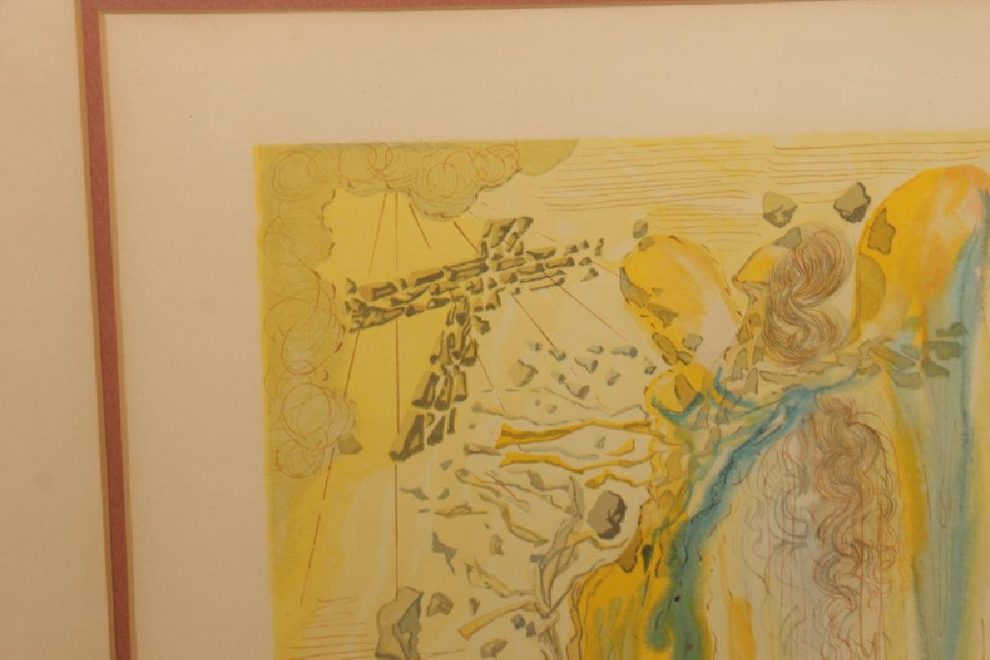 SALVADOR DALI WOOD ENGRAVING DIVINE COMEDY SIGNED - 2
