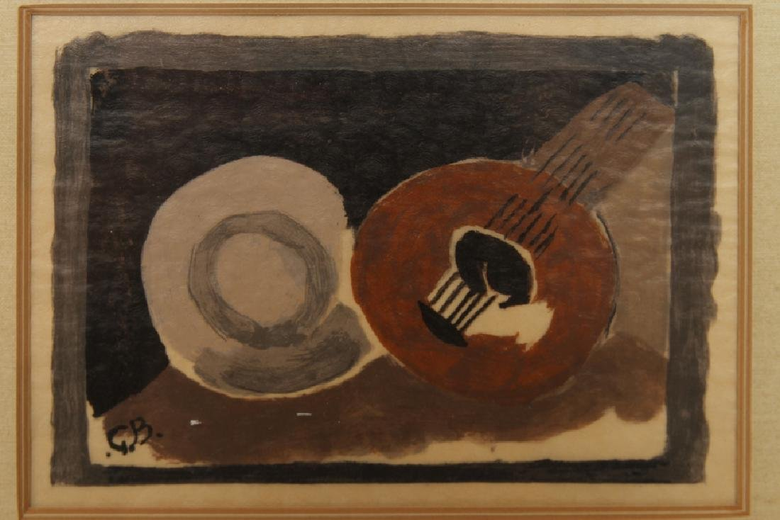GEORGE BRAQUE LITHOGRAPH IN COLOURS SIGNED - 2