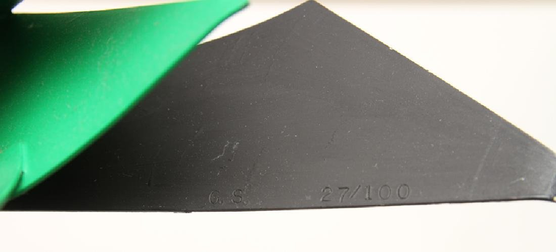 "GEORGE SUGARMAN ""BLACK AND GREEN"" SCULPTURE - 5"