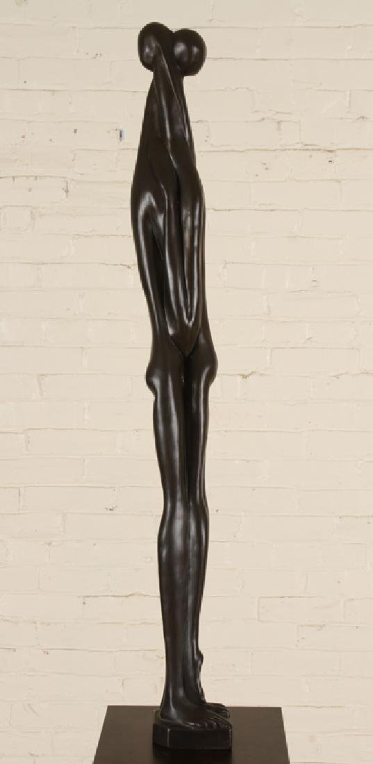 THE EMBRACE PLASTER SCULPTURE OF TWO FIGURES - 2