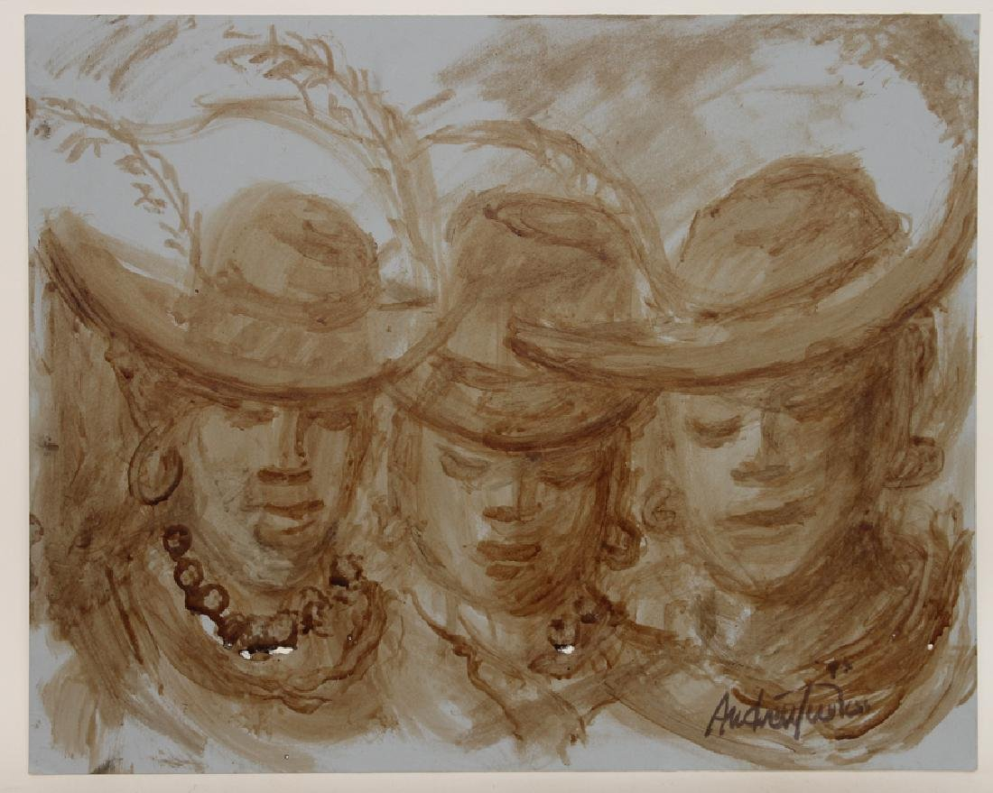 """ANDREW TURNER """"SISTERS"""" COFFEE ON POSTER BOARD"""