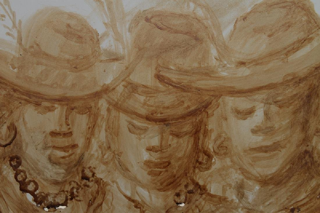 """ANDREW TURNER """"SISTERS"""" COFFEE ON POSTER BOARD - 2"""