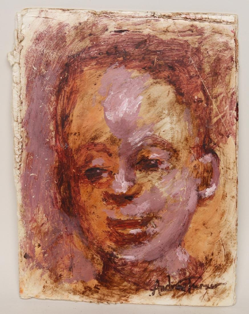 "ANDREW TURNER ""STUDY OF A YOUNG BOY"" SIGNED"