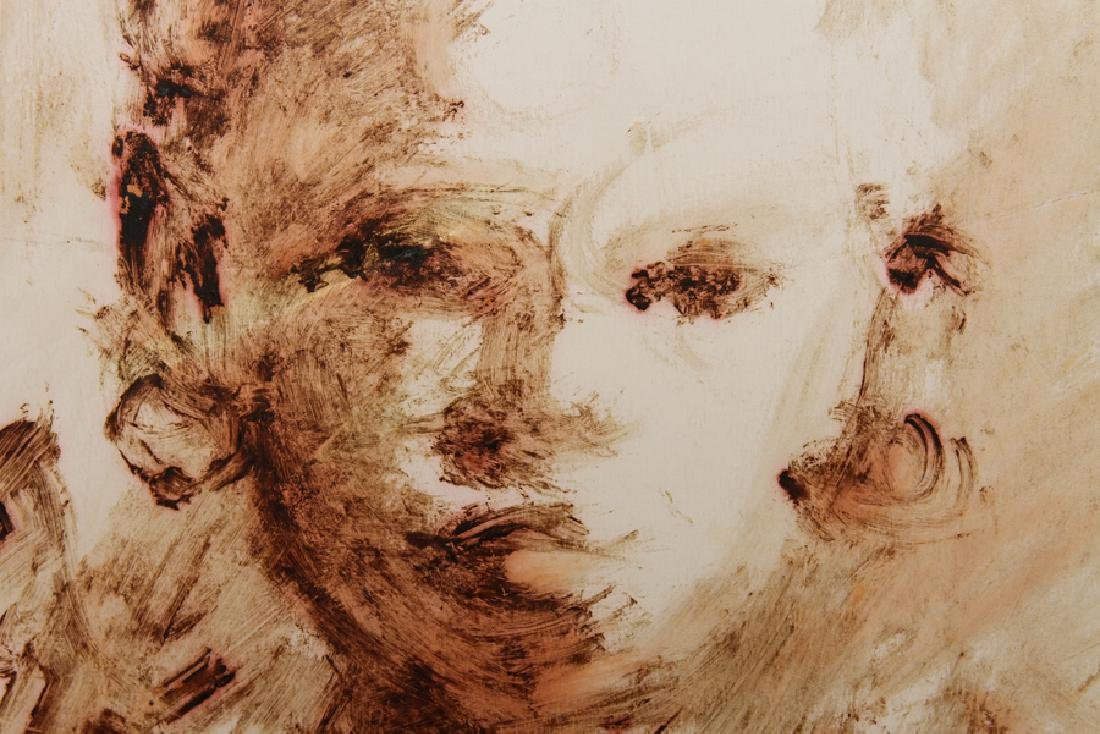 """ANDREW TURNER """"STUDY OF A YOUNG GIRL"""" MIXED MEDIA - 3"""