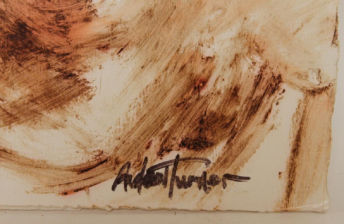 """ANDREW TURNER """"STUDY OF A YOUNG GIRL"""" MIXED MEDIA - 4"""