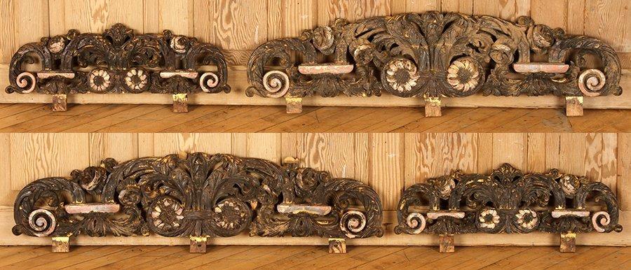FOUR WOOD CARVINGS CIRCA 1900