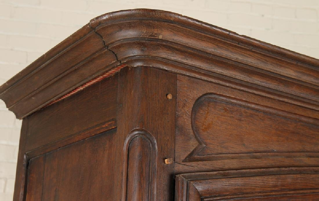 TWO DOOR 19TH CENTURY FRENCH OAK ARMOIRE - 3