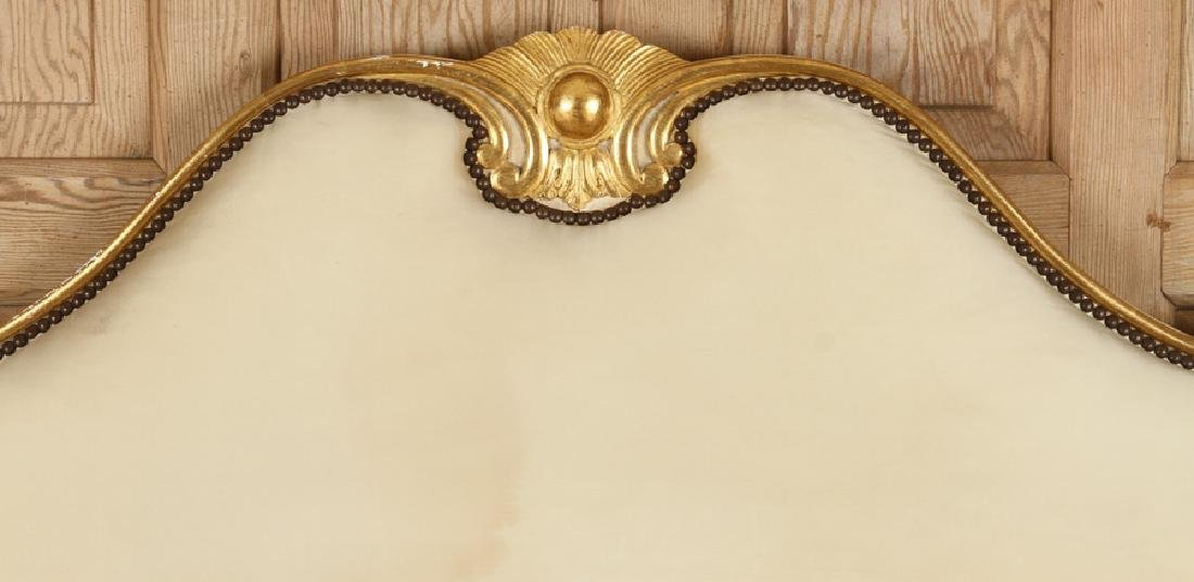 FRENCH LOUIS XV STYLE CARVED GILT QUEEN SIZE BED - 2