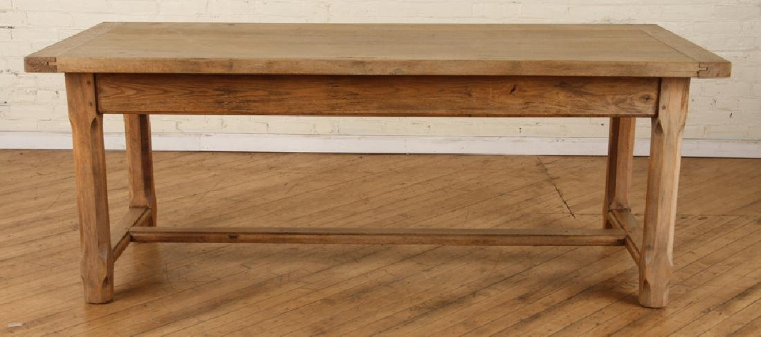 FRENCH OAK PLANK TOP TABLE CIRCA 1930 - 2