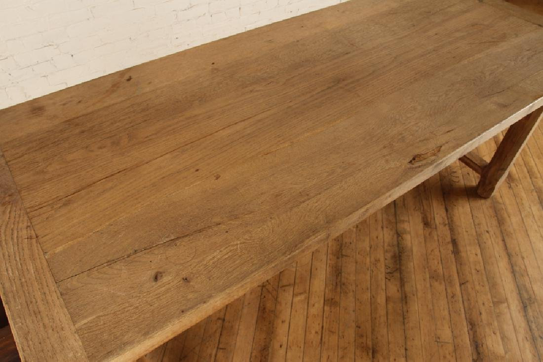 FRENCH OAK PLANK TOP TABLE CIRCA 1930 - 3