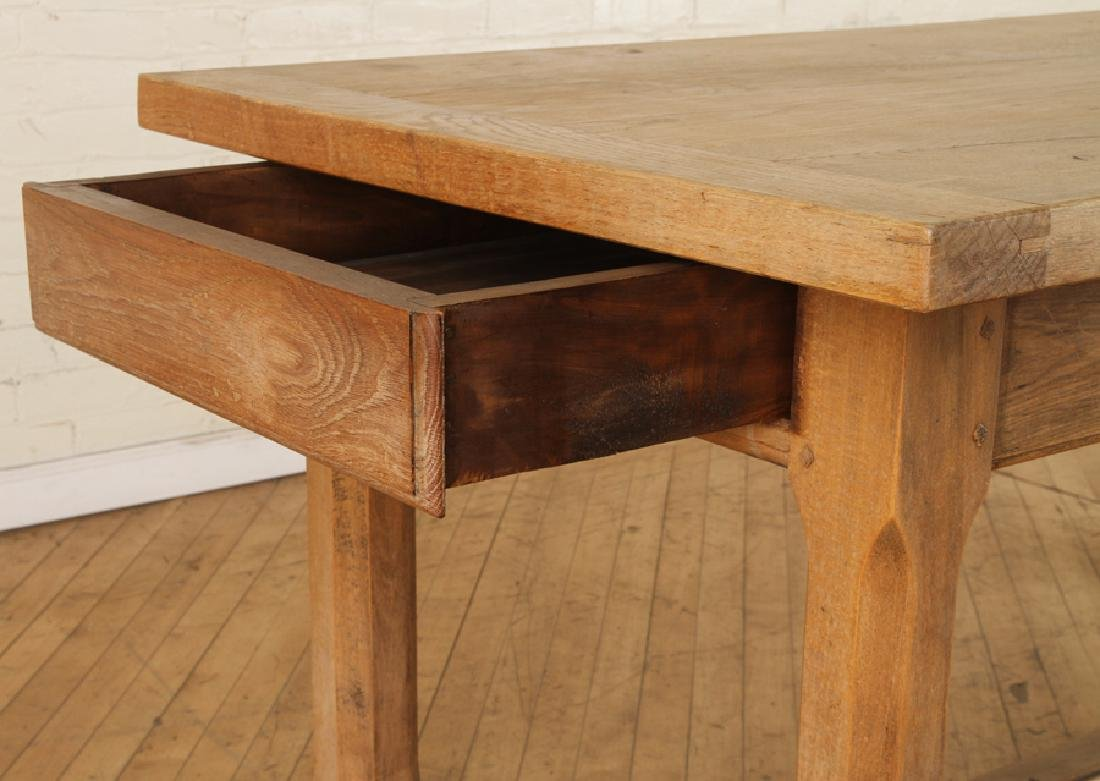 FRENCH OAK PLANK TOP TABLE CIRCA 1930 - 4