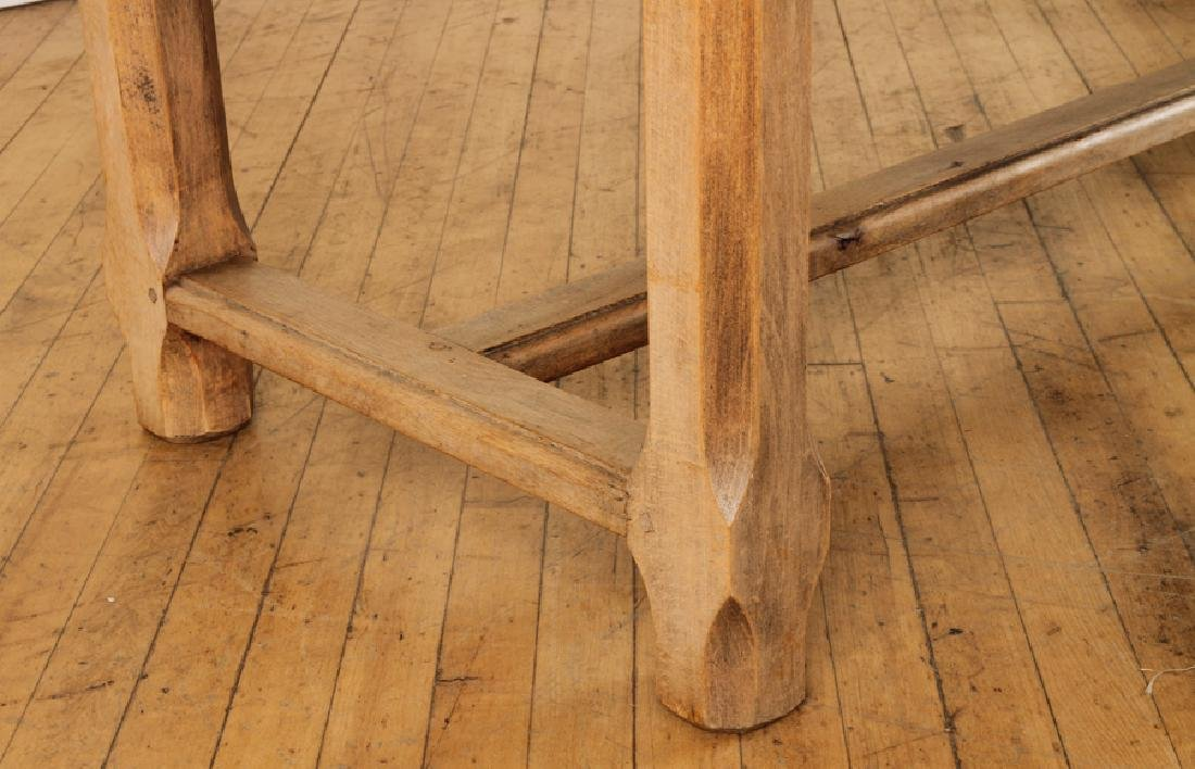 FRENCH OAK PLANK TOP TABLE CIRCA 1930 - 5