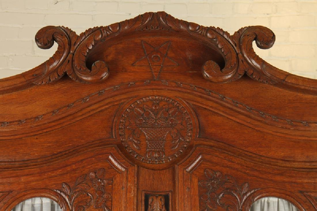 19TH CENT. CARVED OAK FRENCH BUFFET DEUX CORPS - 2