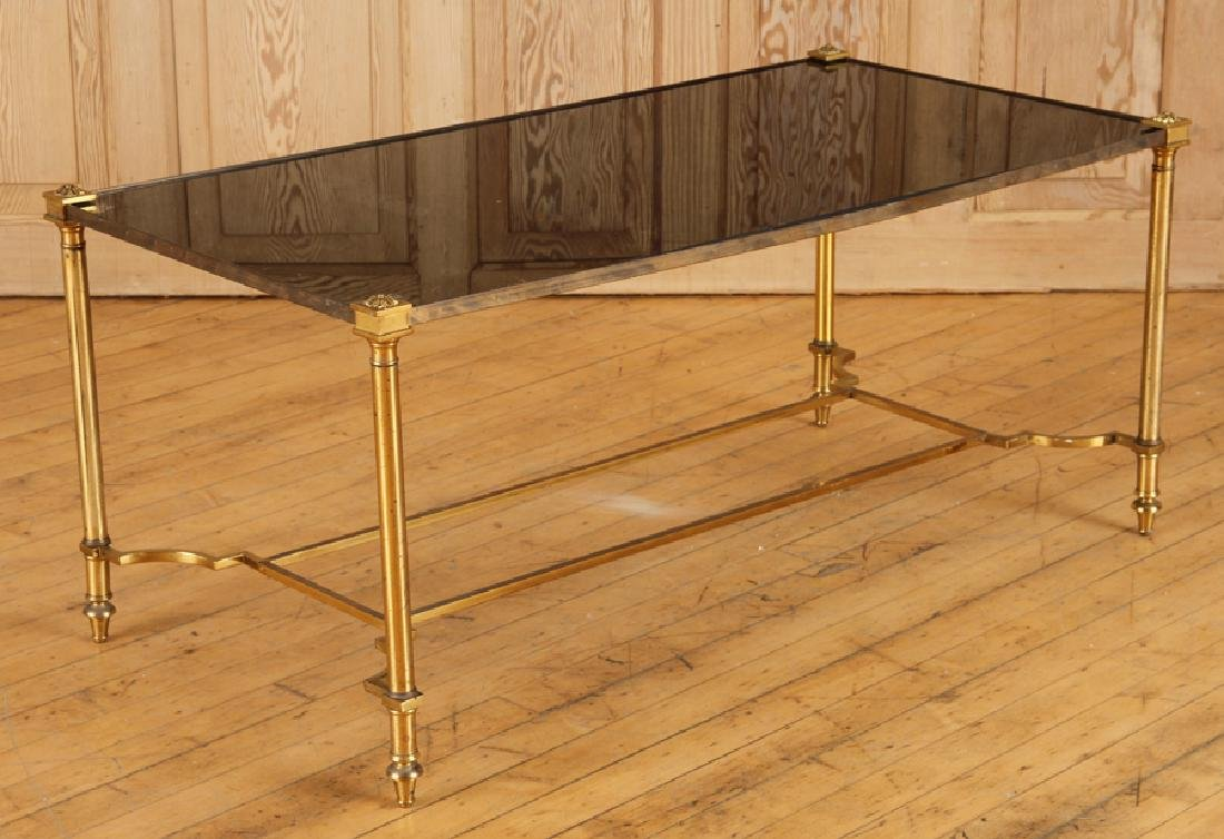 FRENCH BRONZE COFFEE TABLE BY JANSEN C.1950
